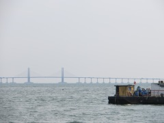 Here's a look at the bridge connecting Penang with mainland Malaysia.